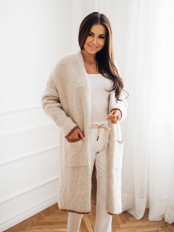 Sweter Zita Beige Brązowy