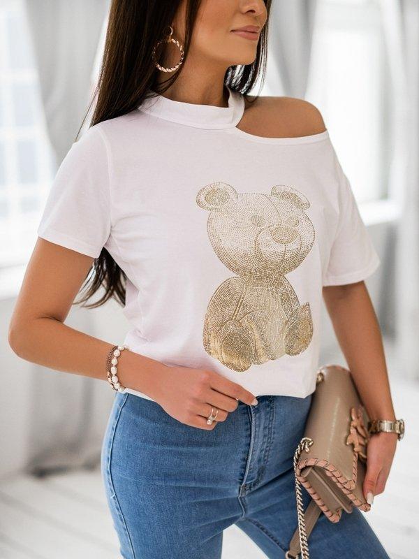 T-shirt Gold Bear Biały