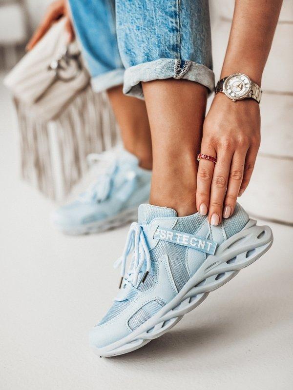 Sneakersy Navy Błękitne