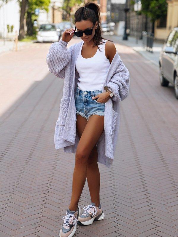 Sweter Aurella Fioletowy