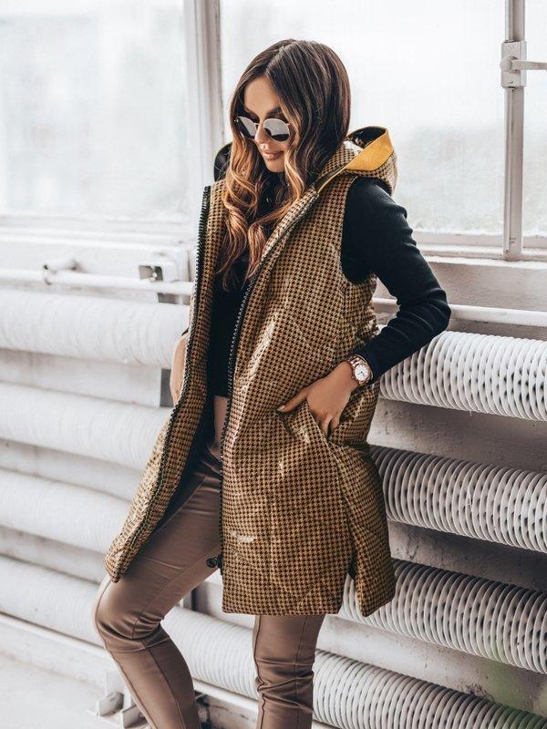 Kamizelka Origin Tweed Karmelowa