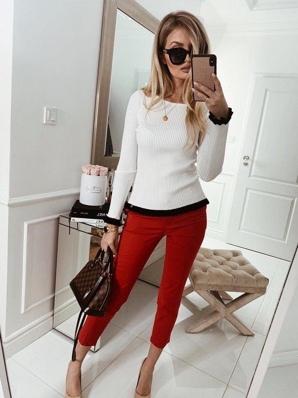 Spodnie Classic Czerwone