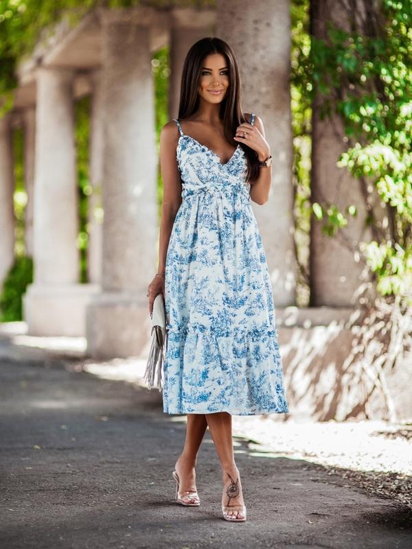 Sukienka Riva Niebieska