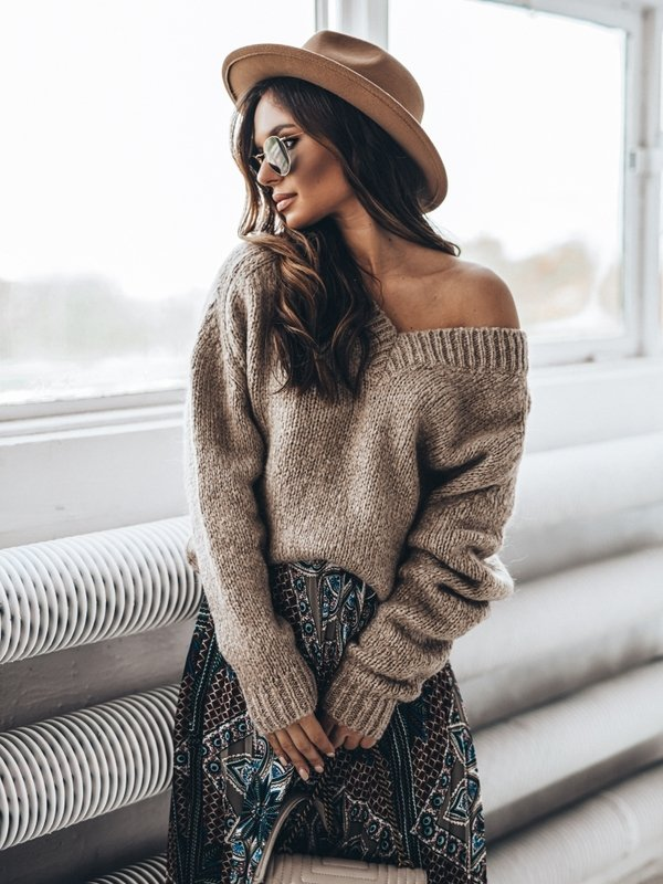 Sweter Ashley Beżowy
