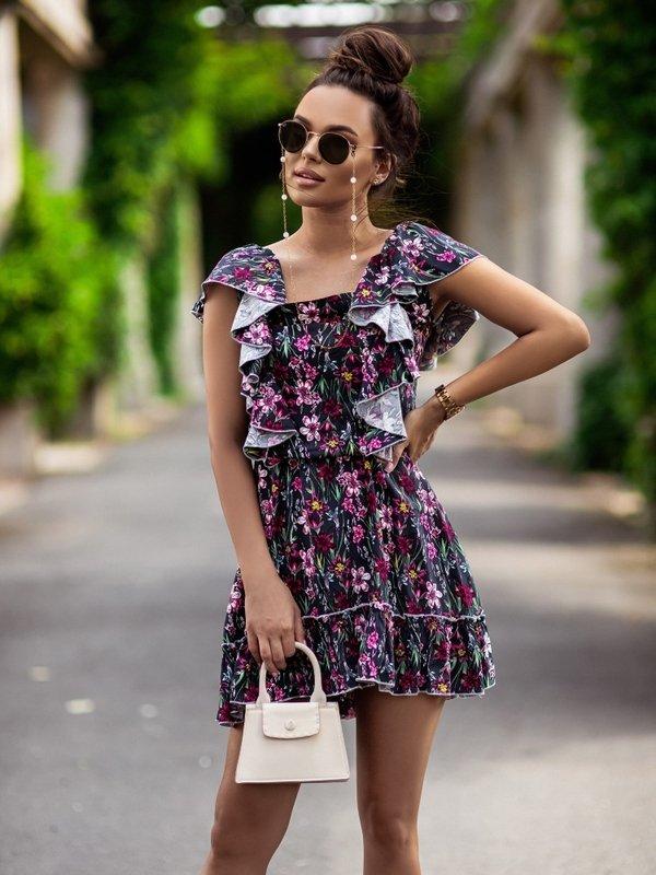 Sukienka Libra Granatowa
