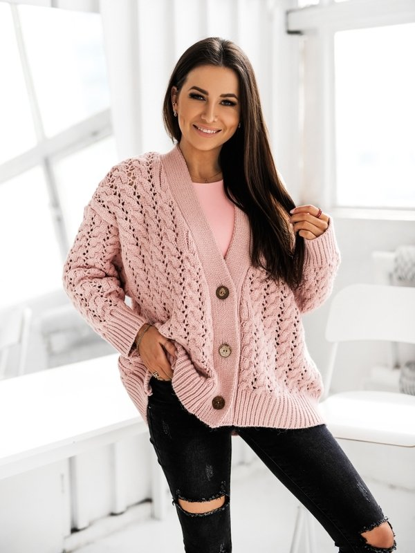 Sweter Charlotte Pudrowy