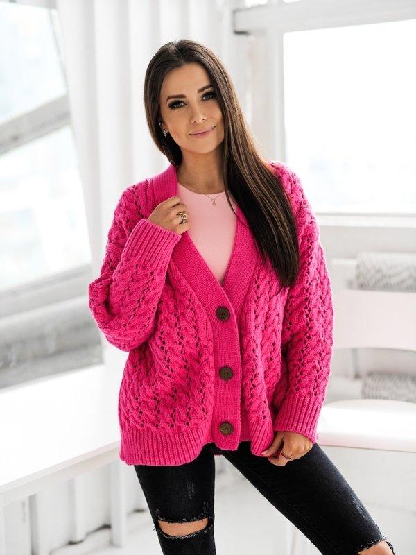 Sweter Charlotte Amarantowy