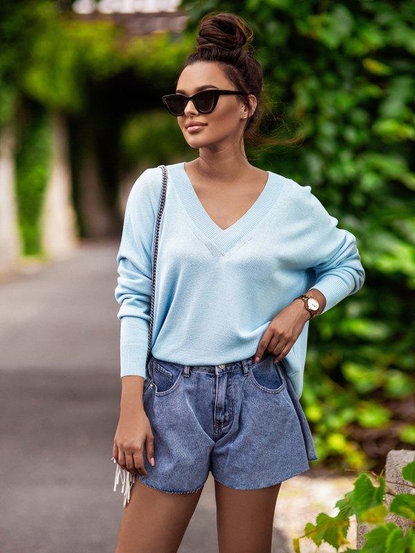 Sweter Classico New Niebieski
