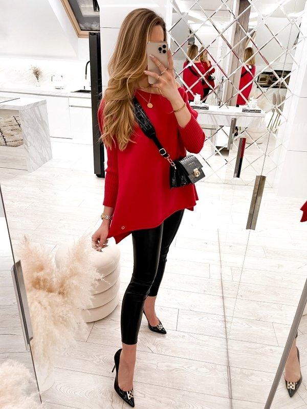 Sweter Melia Czerwony