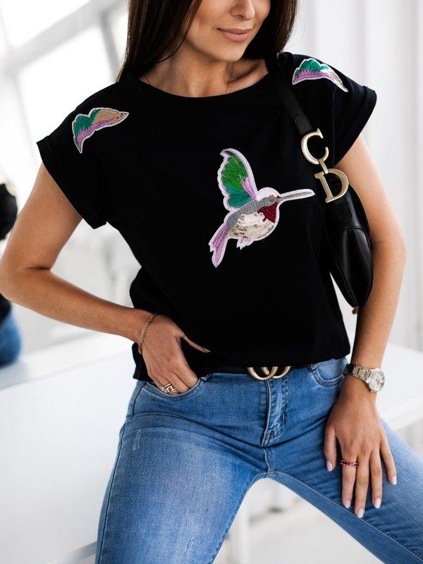 T-shirt Bird Colours Czarny