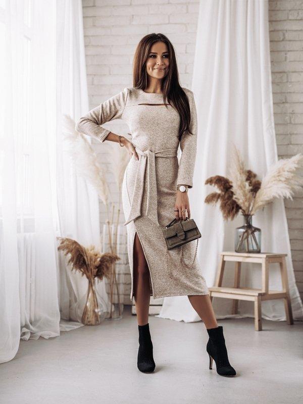 Sukienka Ciarra Beżowa