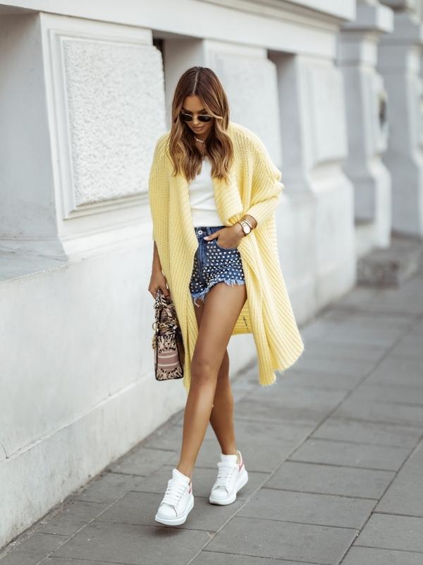 Sweter Berry Żółty