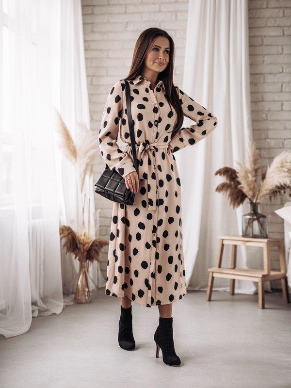 Sukienka Seilo Pudrowa