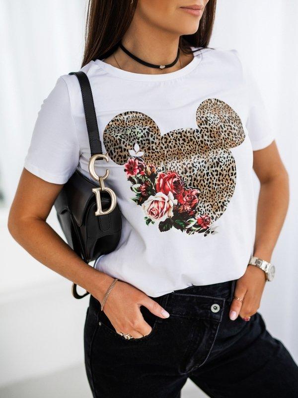 T-shirt Minnie Panther Biały