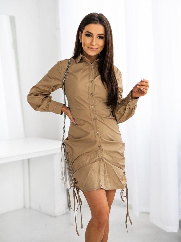 Sukienka Megan Karmelowa