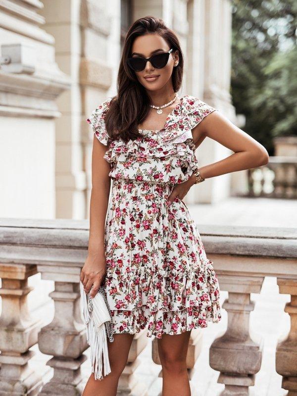 Sukienka Susan Rose Kremowa