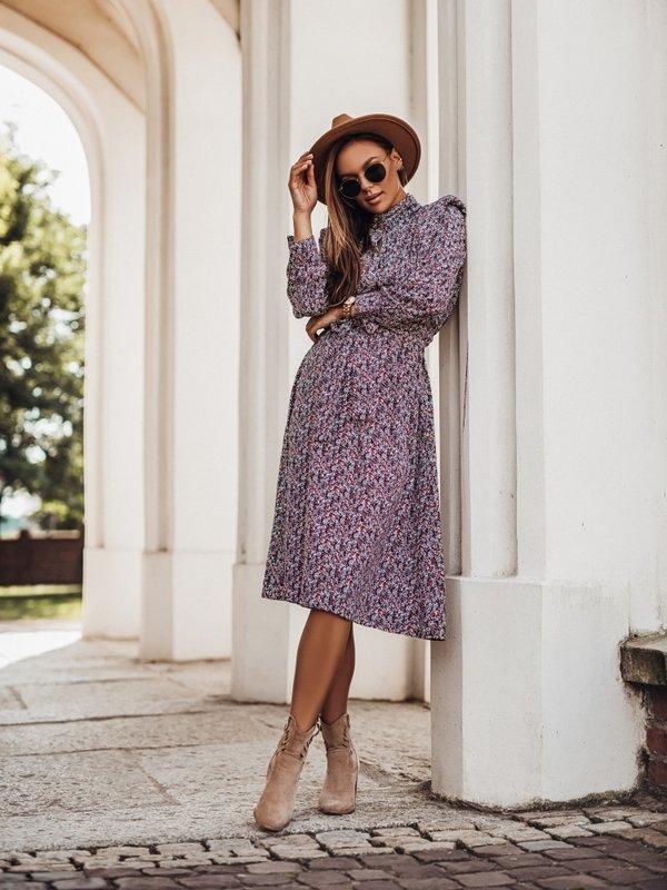 Sukienka Vajo Granatowa