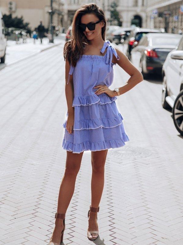 Sukienka Sydney Check Niebieska