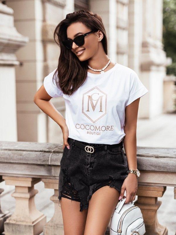 T-shirt CM Boutique Biały