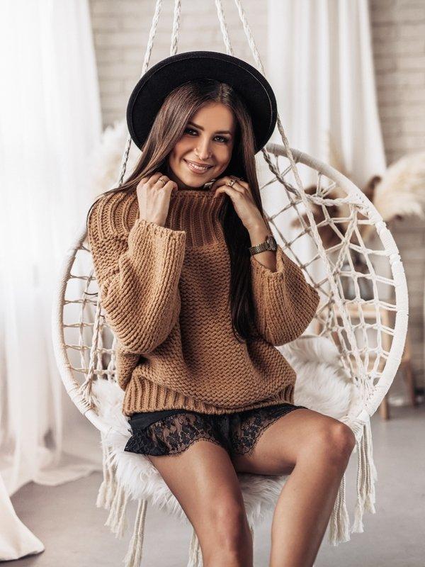 Sweter Weston Karmelowy