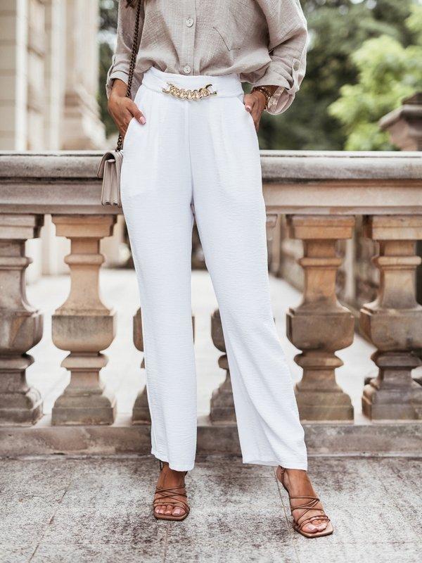 Spodnie Marine Białe