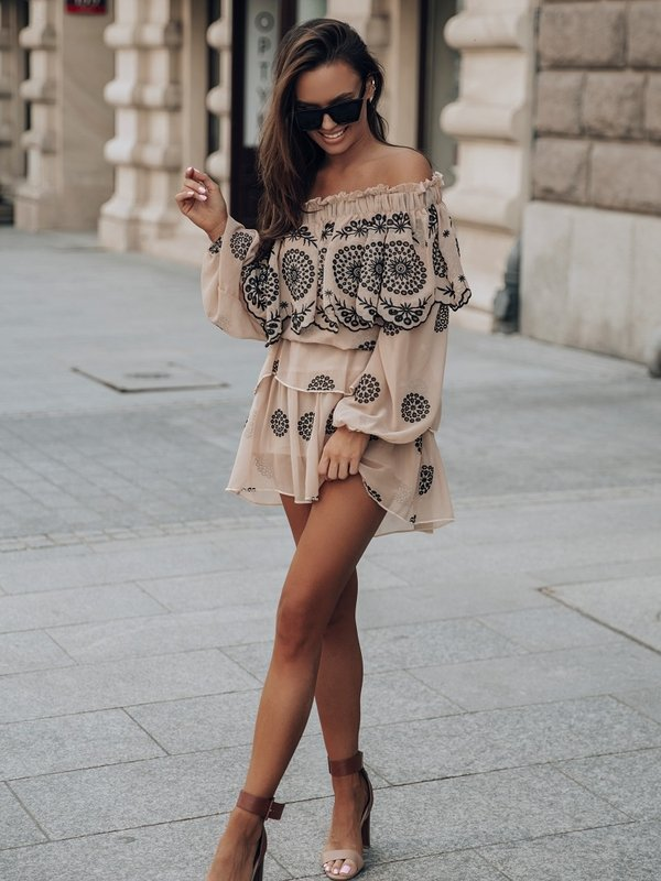 Spódnica Santos Karmelowa