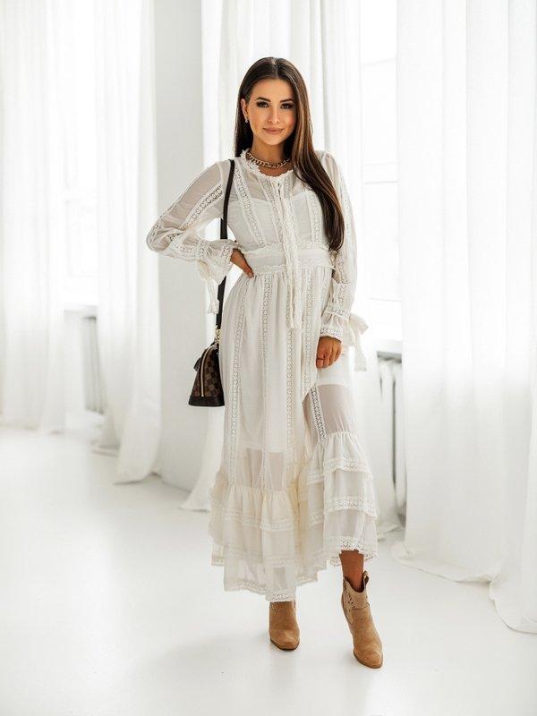 Sukienka Romance Kremowa