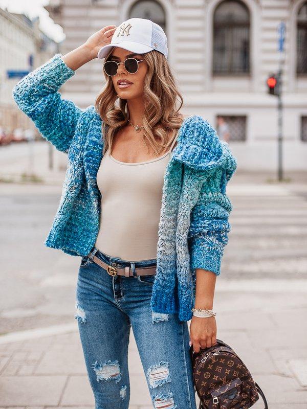 Sweter Kamikaze Niebieski
