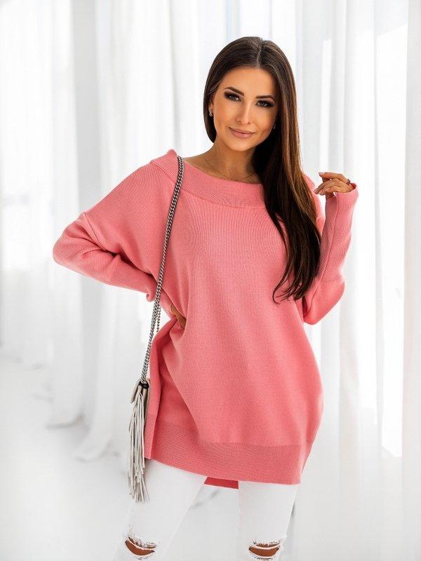 Sweter Misha New Różowy