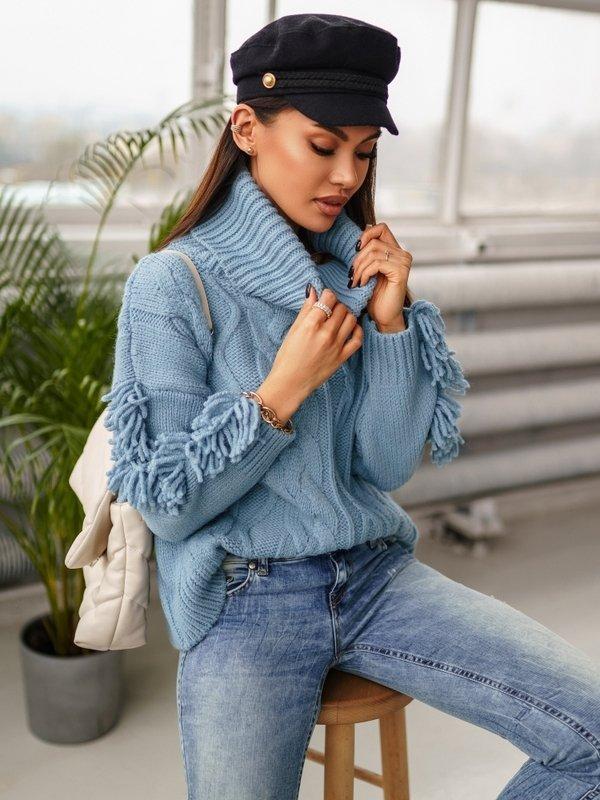 Sweter Hiver Błękitny