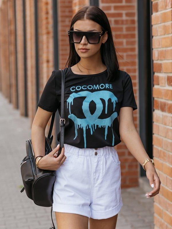 Bluzka Coco Paint Black Błękitna