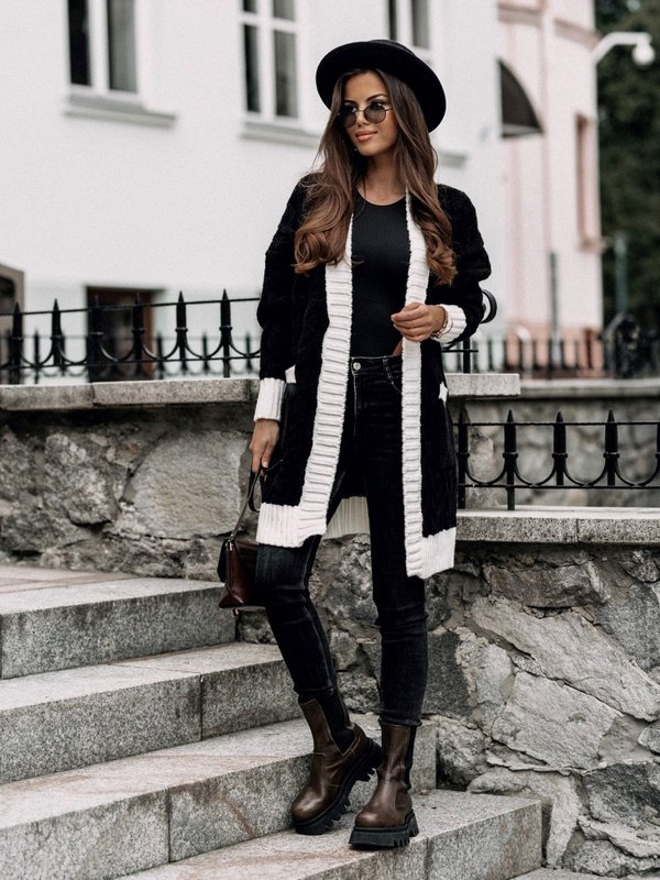 Sweter Rock Czarny