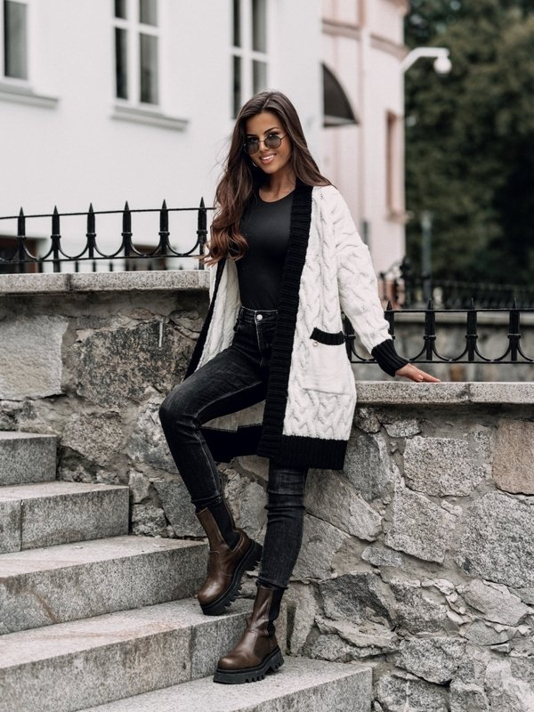 Sweter Rock Kremowy