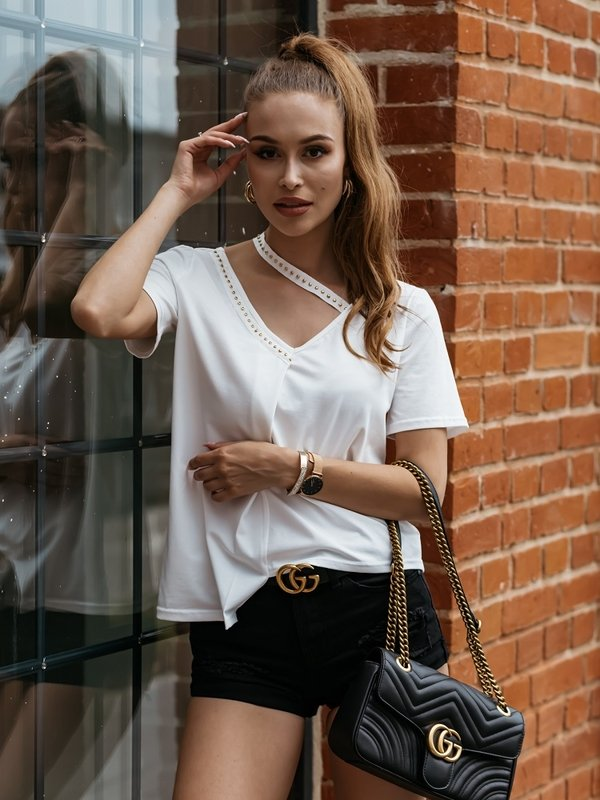 Bluzka Shine Kremowa
