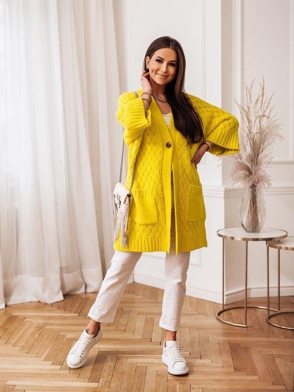 Sweter Melania Żółty