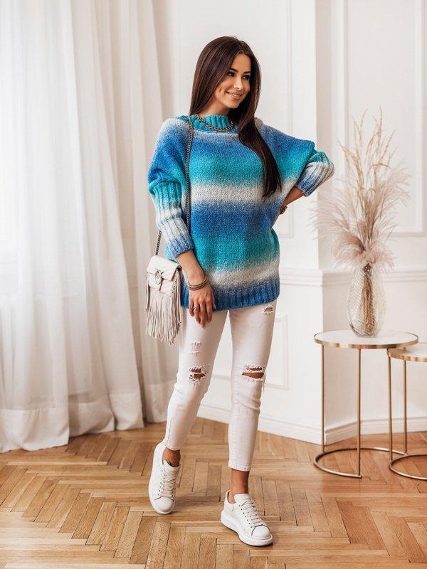 Sweter Rivetta Niebieski