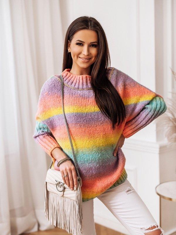 Sweter Rivetta Różowy
