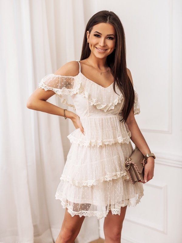 Sukienka Voila Kremowa