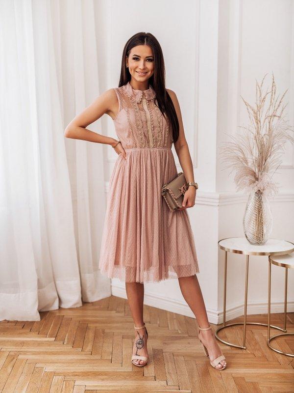 Sukienka Loretta Pudrowa