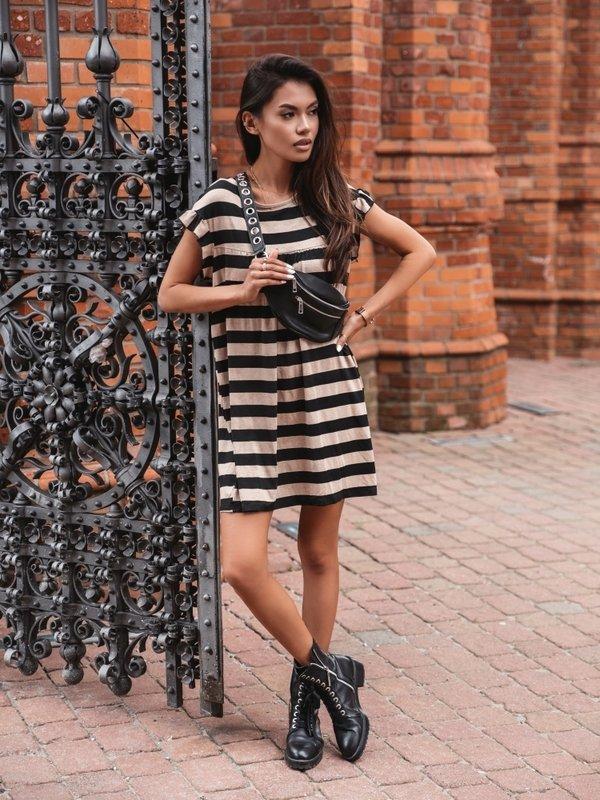 Sukienka Sunnie Black Karmelowa