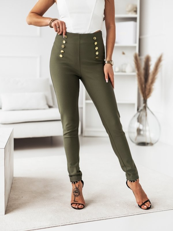 Spodnie High Button Khaki