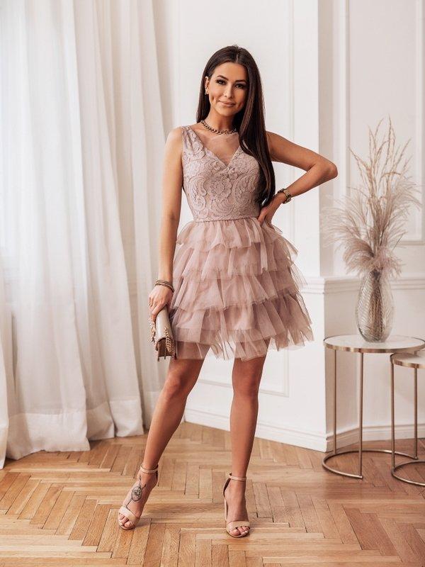 Sukienka Malibu Pudrowa