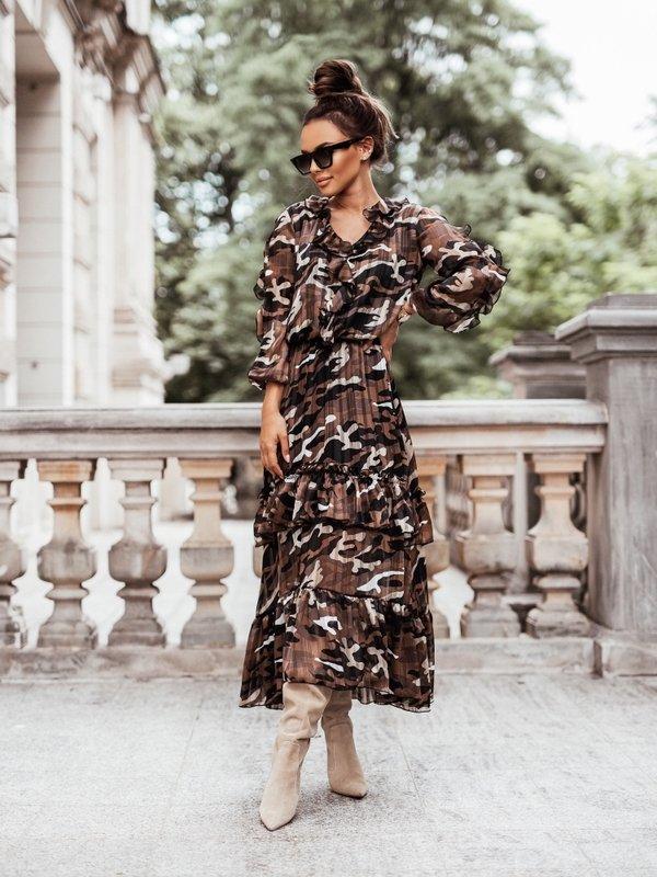 Sukienka Billie Brązowa
