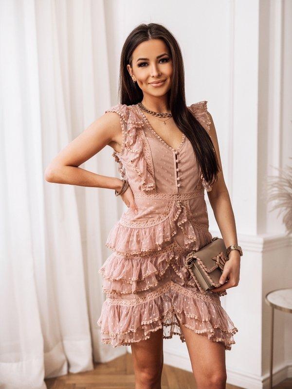 Sukienka Torino Pudrowa