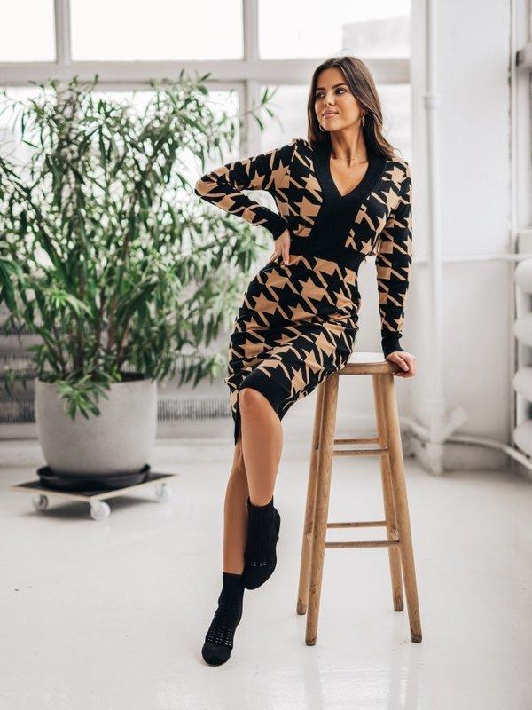 Sukienka Twiggy Karmelowa
