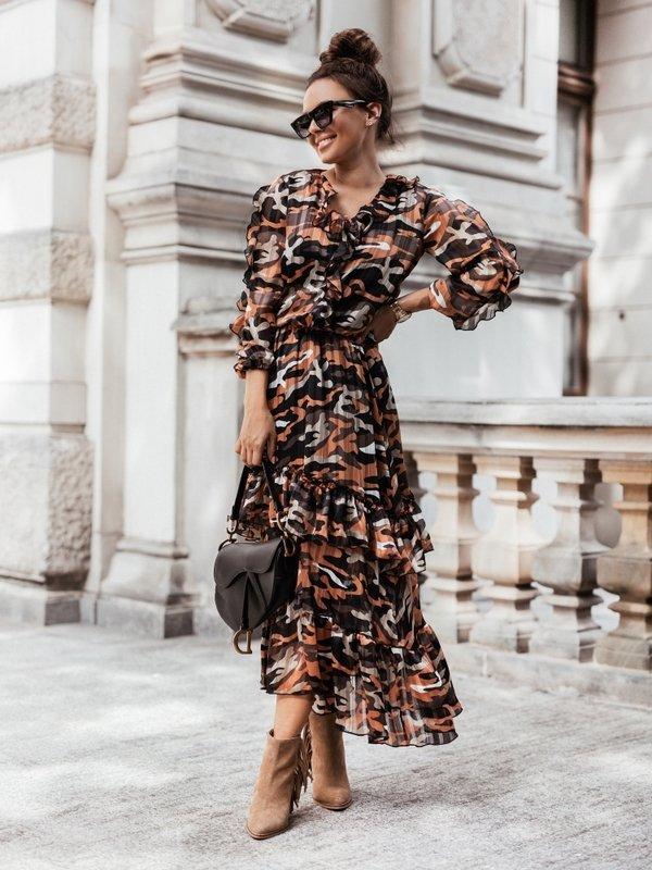 Sukienka Billie Pomarańczowa