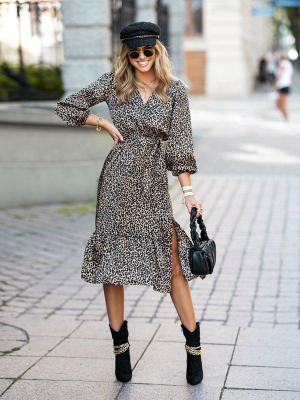 Sukienka Jazmin Panther Brązowa