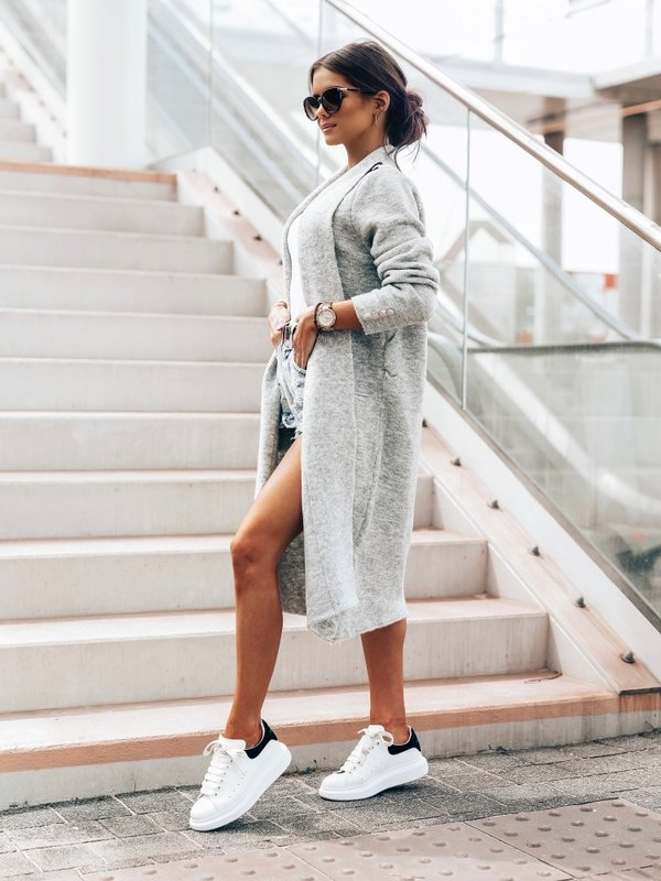 Sweter Jasmin Szary