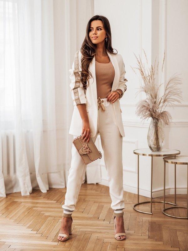 Spodnie Pilar Kremowe