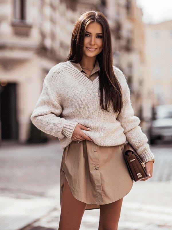 Sweter Ashley J. Beżowy